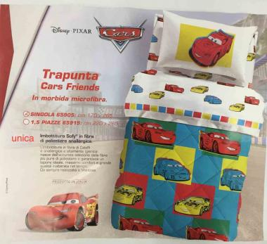Trapunta singola disney cars friends