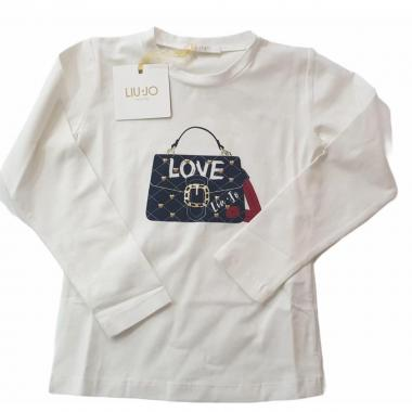 T-shirt ml bimba liu jo k69045-j0088